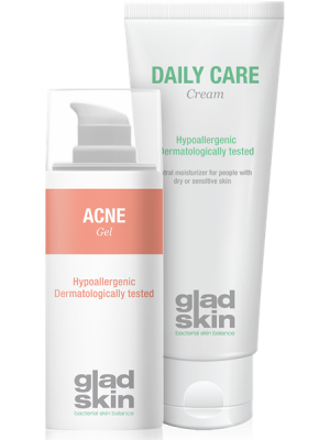 Acne hydraterende set - 30 en 75 ml