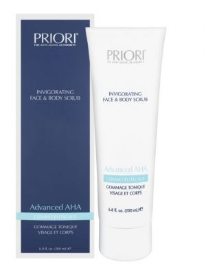 Priori® Advanced AHA Invigorating Face & Body Scrub - 75 of 200ml